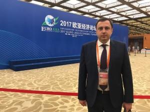 Ярослав Климович на відкритті міжнародного економічного форму в м. Сіань, Китай.